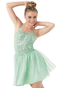 Tulle & Satin Skirt Cami Day Dress   Balera