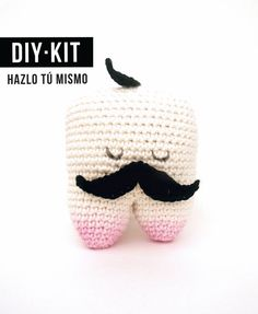 Kit DIY/ Crochet Tooth Hipster Aromatic  / Ecocotton by BruDiy, €18.00
