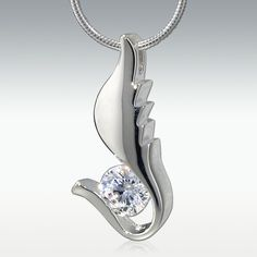 Angel Wing Sterling Silver Jewelry - Engravable
