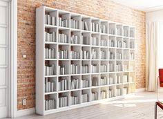 Bücherregal Nach Maß Aus Weißem MDF Holz. Alle Maße Wie Breite, Höhe, Tiefe