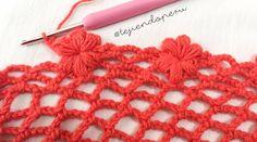 Estamos grabando y pronto lo compartiemos en nuestro canal de #YouTube: punto red con flores mollie al borde #crochet