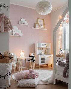 Baby Room Design, Girl Bedroom Designs, Baby Room Decor, Bedroom Decor, Lego Bedroom, Gray Bedroom, Little Girl Bedrooms, Pink Bedroom For Girls, Ikea Girls Room