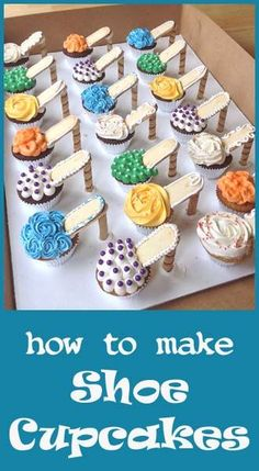 shoe cupcakes                                                                                                                                                                                 More