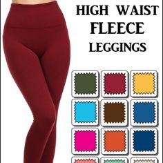 """FLEECE LEGGING BACK AGAIN‼️ #1 Best selling fleece legging with tummy control waist line. """"Feels like butter"""" One size fits most XS-XL. NWT.                                                            Available in Charcoal, Navy, Army green, Red wine, Black and Coffee.                                                  Please do not purchase this listing. Comment below for your bundle listing. 2 for $32 Gin Boutique Pants Leggings"""
