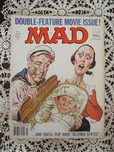 Vintage MOVIE ISSUE: September 1981 MAD MAGAZINE #225 Robin Williams POPEYE   Collectibles, Comics, Magazines   eBay!