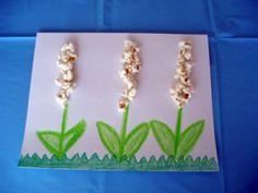 Spring popcorn flower craft