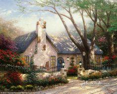 Morning Glory Cottage by Thomas Kinkade