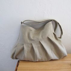 The Rogue in Organic Hemp  A Large Pleated Bag with by infusion, $85.00