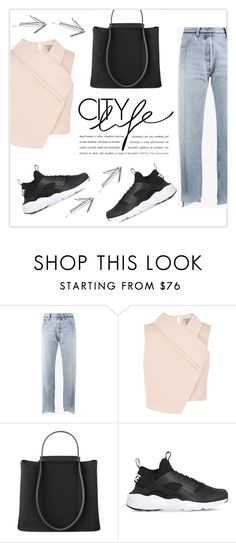"""""""polycool"""" by namelifny1 on Polyvore featuring moda, Vetements, Coast, NIKE, StreetStyle, denim ve IWearPinkFor"""