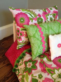 Pink and Green for a little girl's room...
