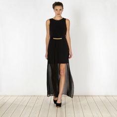 rare side split maxi dress size 8