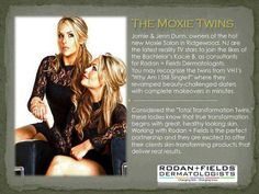 """We are thrilled to introduce our newest team members! Please welcome the fabulous Moxie Twins, Jenn & Jamie Dunn and their team of talented stylists from Moxie Salon - the hottest new salon in Ridgewood, NJ! You may recognize these ladies from VH1's """"Why Am I Still Single?"""" We can't wait for Jamie, Jenn and their team to rock Rodan + Fields!"""