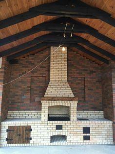 House Plants Decor, Plant Decor, Barbecue Garden, Stove Oven, Stove Fireplace, Backyard Lighting, Modern Backyard, Outdoor Kitchen Design, Garden Design