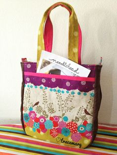 Noodlehead Super Tote with Echino fabric