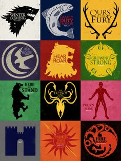 "The houses of Game of Thrones, I love how the Frey one is just ""Frey""."