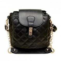 $14.68 Fashion Women's Crossbody Bag With Checked and Metallic Chain Design
