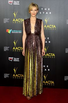 AACTA Awards Ceremony, Sydney – January 29 2014  Cate Blanchett chose a dress from the Givenchy by Riccardo Tisci spring/summer 2014 collection.