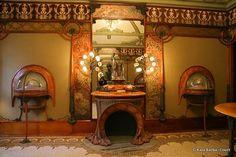 Interior da joalheria de Georges Fouquet, projetada por Mucha - Paris - 1900