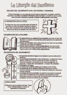 Resultado de imagen para simbolos del bautismo catolico Catholic Baptism, Religion Catolica, Sunday School, Activities For Kids, Acting, Prayers, Spirituality, Faith, Education