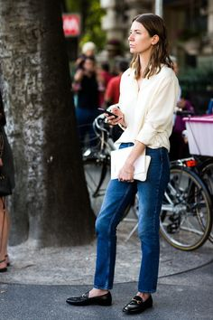 Street Style: The Classic Button-Down And Denim Mix | Le Fashion | Bloglovin'