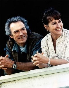 "On the set of ""The Bridges of Madison County"" with Clint Eastwood"