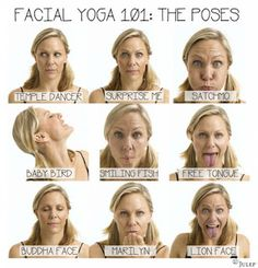 Get Toned: Facial Yoga & Exercises to Reduce Wrinkles by amalia Facial Yoga Exercises, Stretching Exercises, Facial Muscles, Face Facial, Face Skin, Face Yoga, Yoga Skin, Get Toned, Face Massage