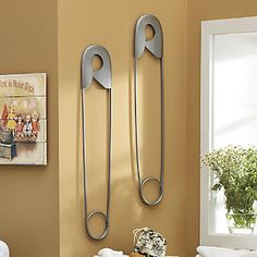 Wall Art Safety Pin From Through The Country Door Laundry Room Idea