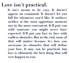 Love isn't...