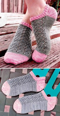Knitted Ankle Socks with Lace - Free Pattern Free Knitting Pattern Always wanted to learn to knit, nevertheless uncertain how to start? This specific Utter Beginner . Knitting Patterns Free, Free Knitting, Crochet Patterns, Knitted Socks Free Pattern, Magic Look, Pink Cotton Candy, Patterned Socks, Knitting Socks, Knit Socks