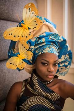 Gele.  The butterflies make it Extravagant!