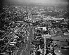 Nachrichtenfoto : Blick auf die Gegend um den Lehrter Bahnhof,...