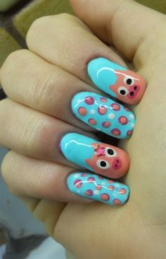 Piggy cute nail art  - Nail Art Gallery by nailsmag.com