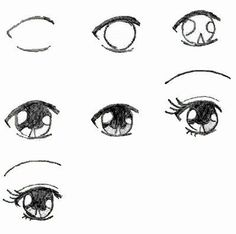 Manga Drawing Techniques How to draw Manga eyes. It is for those who love to draw manga. Mouth Drawing, Manga Drawing, Drawing Hair, Girl Drawing Sketches, Body Sketches, Female Drawing, Girl Drawings, Drawing Style, Girl Sketch