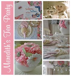 You're never too old for a tea party! I am in love with the pearl wrapped napkins! Sooooo sweet!