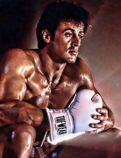 Digitalart by on deviantart Sylvester Stallone as Rocky Balboa Rocky Stallone, Rocky Sylvester Stallone, Rocky Balboa Poster, Rocky Balboa Quotes, Rocky Film, Rocky Series, Harey Quinn, Silvester Stallone, Boxing Posters