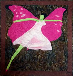 Flying Ballerina, Quilt by www.obaquilts.com