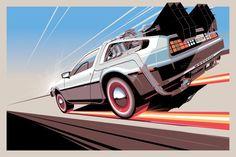 DeLorean by Craig Drake Dmc Delorean, Delorean Time Machine, Future Wallpaper, Hd Wallpaper, Batman Wallpaper, Wallpapers, Travel Movies, Time Travel, Back To The Future