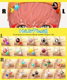[HairPins!! L and R sets.]DOWNLOAD/MediaFire mesh... - imadako_S4