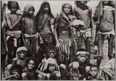 Famílias inteiras morreram de fome na Índia.