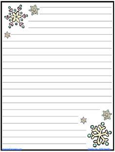 The AmazingClassroom.com Blog: FREE Snowflake Journal Writing Paper