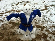 Jiu jitsu snow man!