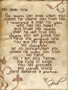 A letter to my girls, from God. <3