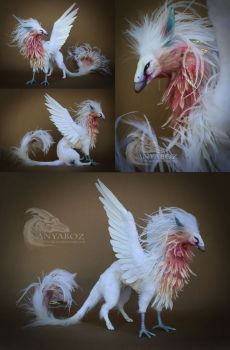 Angel Phoenix Guardian by AnyaBoz on DeviantArt Cute Fantasy Creatures, Mythical Creatures Art, Cute Creatures, Magical Creatures, Beautiful Creatures, Deviantart Fantasy, Mystical Animals, Rare Animals, Monster