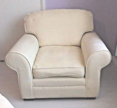 ARGOS Cream Cuddle Chair. Soft and comfortable. Ready to collect.