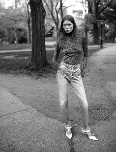 """""""NYC"""" / Julia Hafstrom photographed by Rory van Millingen and styled by…"""