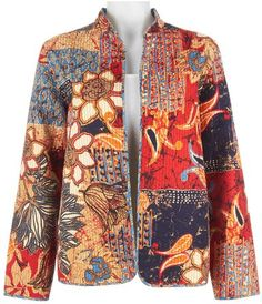 Ethnic Patchwork Quilt Jacket in Multi By Alfred Dunner (20)