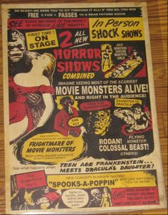 Spook Show posters and memorabilia in Classic Horror Movie Memorabilia Forum