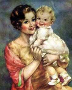 AMARNA ARTESANATO E IMAGENS Antique Art, Vintage Art, Vintage Baby Pictures, Kelsey Rose, Baby Illustration, Mother Art, Photoshop Projects, Baby Art, Female Art