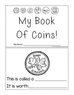 Money – Canadian Coins Student Activity Booklet for Grades 1 and 2 Money Activities, Teaching Activities, Teaching Math, Canadian Coins, Coin Books, Teaching Money, Math Groups, Financial Literacy, Frames