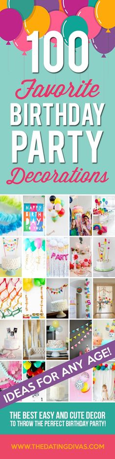 100 Birthday Party Decoration Ideas - The Dating Divas 70th Birthday Parties, Birthday Ideas, Birthday Stuff, 11th Birthday, Birthday Fun, Birthday Cakes, Homemade Birthday Decorations, Birthday Traditions, Party Planning